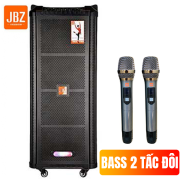 Loa kẹo kéo xách tay JBZ 0807 2 tấc đôi tặng kèm 2 mic không dây