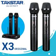 Bộ 2 mic không dây Takstar X3 chính hãng - UHF Hỗ trợ tăng cường