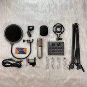 Combo Micro thu âm BM900 cùng Soundcard V8 Chân màn kẹp lọc âm