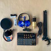 Bộ thu âm chuyên nghiệp soundcard K300 kết hợp mic SDRD SD-203