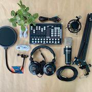 Combo micro thu âm Takstar PC K600 cùng Soundcard H9 Bluetooth - Tặng tai nghe ISK 960B