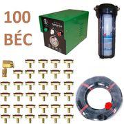 Trọn bộ phun sương làm mát quán cafe 100 béc - Bơm Daehan DH 150 cốc lọc rác 100M dây