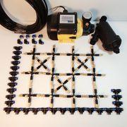 Hệ thống phun sương 30 béc 5 hướng đầu đồng điều chỉnh lượng nước - Bơm Lion 0.5HP