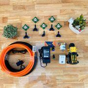 Hệ thống phun sương tưới lan và tưới cây 5 béc phun 4 hướng điều khiển từ xa đủ bộ