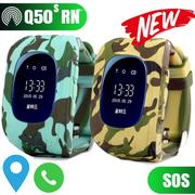 Đồng hồ định vị trẻ em Q50s - Xanh rằn ri quân đội