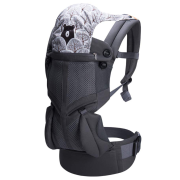 Địu cho bé đa năng cao cấp Bebamour Bebear Baby Wrap Carrier có mũ che