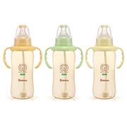 Bình sữa hồ lô cổ rộng tay cầm hút tự động nhựa PES 150ml