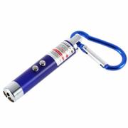 Móc khóa đèn pin soi tiền và Lazer 3  chức năng