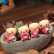 Bộ tượng heo love ( 4 con)