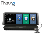 Camera hành trình Phisung E02 màn hình touch 8 inch - Camera Kép Android 5.1