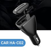 Tẩu sạc ôtô kiêm tai nghe bluetooth cho xe hơi HA-C02 giá rẻ