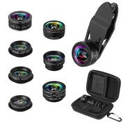Lens marco chụp cận cảnh và góc rộng 9 IN 1 - Ống kính máy ảnh 2x zoom góc rộng 198°