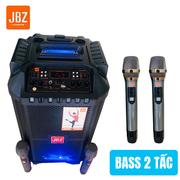 Loa kẹo kéo xách tay JBZ 0806 2 tấc tặng kèm 2 mic không dây