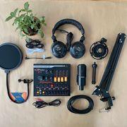 Combo micro PC K320 Soundcard V11 Chân màn kẹp đầy đủ Full Livestream