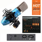 Combo mic ISK AT100 Soundcard V11 Dây live Chân màn kẹp