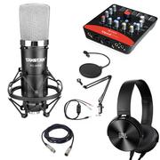 Combo micro thu âm PC-K600, Soundcard Upod Pro, Ma2, chân màn kẹp