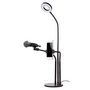 Chân đế để bàn gắn micro thu âm [Có đèn]