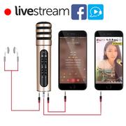 Mic thu âm 3 in1 livestream C6 - Hát trực tiếp trên điện thoại