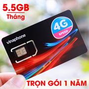 Sim 4G Vinaphone trọn gói 1 năm 66GB không cần nạp tiền