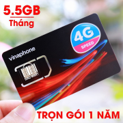 Sim 4G vinaphone trọn gói 1 năm, mỗi tháng 5.5GB Data
