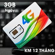 Sim 4G Viettel 3Gb/ngày chỉ 5000đ mỗi ngày