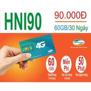 Sim 4G Viettel khuyến mãi 60GB, gọi miễn phí