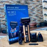 Tông đơ cắt tóc Nikai NK-1087 có ba chế độ cắt tóc cạo râu và cắt lông mũi