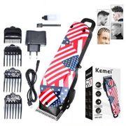 Tăng đơ cắt tóc chuyên nghiệp Kemei hình cờ Mỹ bền và an toàn