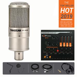 Bộ thu âm Livestream PC K200 V11 HD2000 Chân màn kẹp
