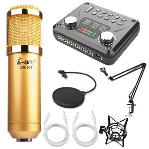 Combo mic BM900 Ami, Soundcard T8, MA2, Chân màn kẹp