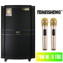 Loa kéo 5 tấc Temeisheng GD 15-20 tặng 2 micro không dây vàng chống nhiễu