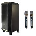 Loa kéo karaoke DJ 3 tấc rưỡi bass khủng - Model K5 Pin tốt kèm 2 micro không dây