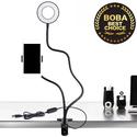 Bộ chân kẹp giá đỡ livestream - 2 IN 1 đèn led và kẹp điện thoại MB3