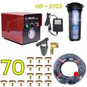 Bộ phun sương 70 đầu phun - Bơm Hawin HP 2703 lọc rác 100M dây