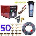 Trọn bộ phun sương 50 béc - Hawin HP 2703 cóc lọc 100M dây
