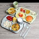 Bộ khay đựng đồ ăn bằng lúa mạch TH 275 - Bao gồm 6 món