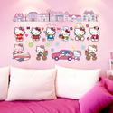 Decal dán tường Hello Kitty dễ thương