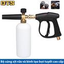 Bộ Súng Xịt Rửa Và Bình Tạo Bọt Tuyết Cao Cấp Cho Máy Rửa Xe Áp Lực Cao Máy Xịt Rửa Cao Áp TT9006