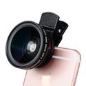 Bộ lens marto chụp góc siêu rộng 2 in 1 -  HD 37mm 0.45X 49UV  12.5x Marco