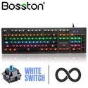 Bàn phím cơ Bosston MK930 chính hãng - Keycab trong suốt layout giống 916