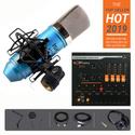 Combo mic ISK AT100 Soundcard V11 Tai nghe kiểm âm HD 2000 Dây live Chân màn kẹp