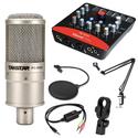 Combo mic K200, Upod Pro, MA2, chân màn kẹp