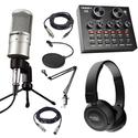 Combo mic PC K200, Soundcard V8, JBL 450BT, MA2, chân màn kẹp