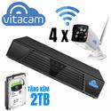 Bộ Kit camera IP NVR Boba 02 -  4 x VB1080 và đầu ghi kèm ổ 2TB (Ngoài Trời)