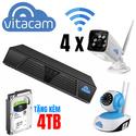 Bộ kit camera IP NVR Boba 04 - 4 x VB1080 và 4 x VT1080 kèm đầu ghi NVR 4TB