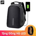 Balo Chống Trộm Có Cổng Sạc USB Fortune Mouse Tặng Đồng Hồ LED