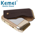 Máy cạo râu cầm tay Kemei KM-5700 giá rẻ - Bao da