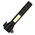 Đèn pin đa năng cầm tay LED COB T6 có búa cứu hộ