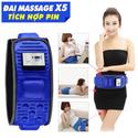 Đai massage bụng X5 có tích hợp pin xanh sử dụng tiện lợi