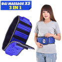 Đai massage bụng X5 thon gọn eo 3 chế độ - Cắm điện 220V trực tiếp